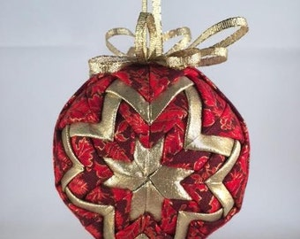 Christmas Quilted Ball Ornament