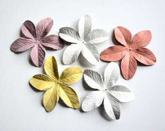 Lily leather flower set of 5 pcs