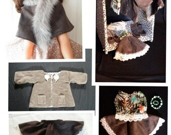 KIT 48 cm baby doll clothing