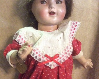 """EFFanBEE Composition Patsy Patent Pending Early Doll 14"""""""