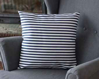 Pillow covers, Marine pillow cower, Marine pillow case, White blue stripes pillow, Blue striped pillow case, Sailor pillow case, Pillow case
