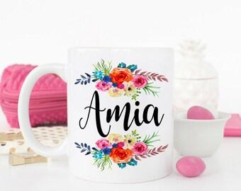 Custom Name Mug, Bridesmaid Mug, Gift for Bridal Party, Personalized Bridesmaid Mug, Wedding Party Mug, Teacher Mug, Gift for Teacher
