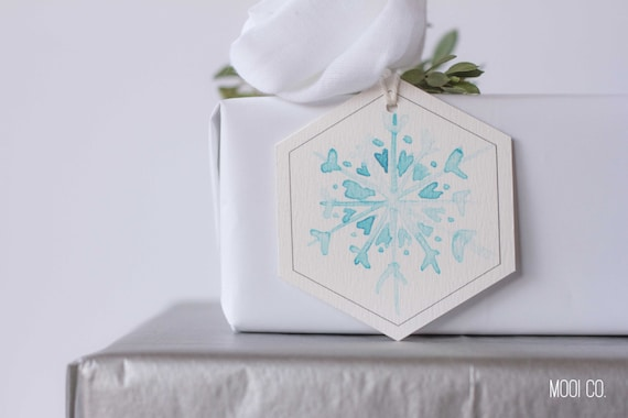 Gift Tags - Watercolour Print