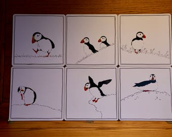 Puffin Placemats Set - six different designs