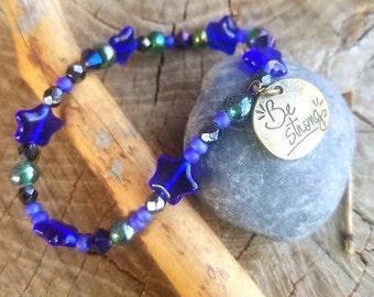 "Blue Star ""Strength"" bracelet"