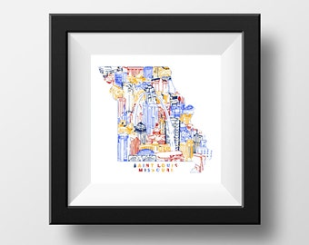 Saint Louis Digital Print
