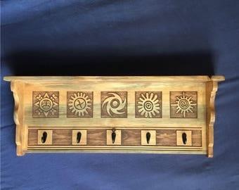 Ancient Sun Symbol Shelf and Hanger