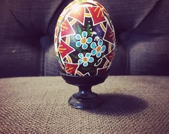 Vintage Traditional hand painted Ukrainian Egg - Ukrainian Pysanka