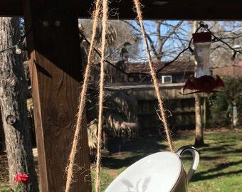 Bird Feeder / Mother's Day Gift / Hanging Bird Feeder / Handmade / Home Decor / Housewarming Gift / Easter Gift / Birthday / Gift for her
