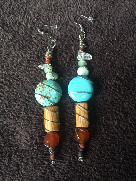 Colored Stone Earings
