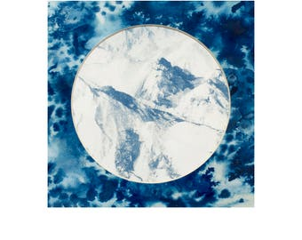Une histoire naturelle / A natural hi-story (chap. 3 : mineral) Cyanotype -original- #10 encadré
