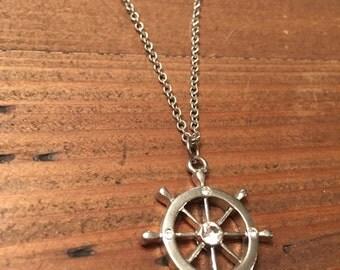 Boat Wheel Necklace