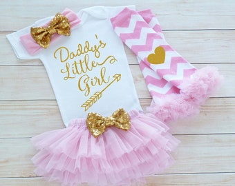 Daddys Little Girl Bodysuit, Baby Girl Outfit, Coming Home Baby Girl Outfit, Baby Coming Home Shirt, Baby Shower Gift, Little Princess Shirt