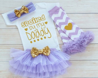 Spoiled By My Daddy, Coming Home Baby Girl Shirt, Little Princess Outfit, Baby Girl Coming Home Outfit, Baby Shower Gift, Infant Outfit