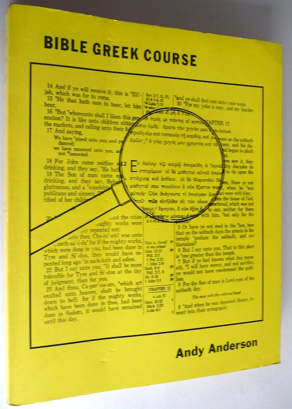 Bible Greek Course 1971 by Andy Anderson with Study Aids/Flashcards Workbook Instruction Christian Biblical Language Study Course