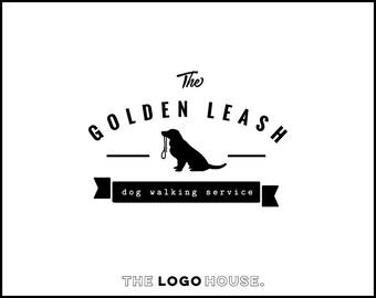 Dog Logo Design, Pet Accesories Logo, Dog Walking Business Logo, Dog Hipster Logo, Dog Leash Logo Design, Boutique Brand Logo, Pet Shop Logo