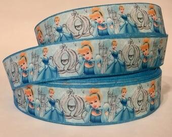 "CLEARANCE 1/3/5/10 Yards - 1"" Cinderella Disney Grosgrain Ribbon Nostalgic DIY"