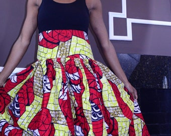 Authentic African Ankara Skirt