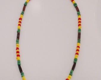 Vietnam War Ribbon Necklace/Military/Vietnam War/Motorcycle/Veterans/Beaded Necklace/