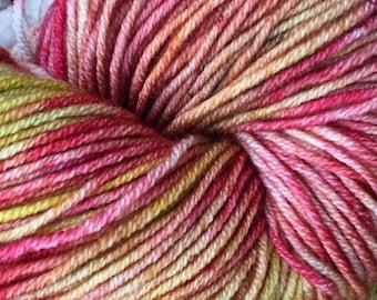 Hand-dyed yarn/100g/100% Superwash Merino/DK/Nasturtium