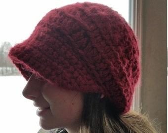 Womens slouchy newsboy hat
