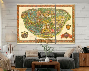 Disneyland Map Etsy