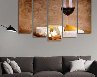 Cheese Art, Cheese Dish, Cheese Plate, Appetizer Plates, Appetizers, Still Life Photography, Wine Glass, Wine Canvas, Wine Pictures
