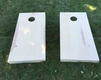 Plain Sanded Cornhole Boards- bean bag toss, baggo toss, corn hole