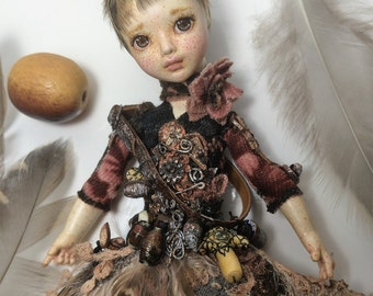 Mirabelle the Birdie OOAK Art Doll by Julia Arts