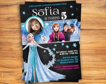 Frozen Invitation/ Elsa Frozen Birthday Invitation/ Frozen printable Invitation/ Frozen Birthday/ Theme Disney Frozen/ Printable Invitation