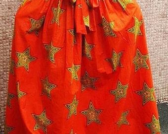Ankara Pleated Skirt