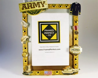 United States Army Picture Frame| Gift for an Armed Service Member Welcome Home or Graduation