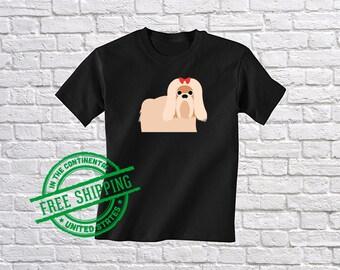 Kids Shih Tzu Shirt - Girls Shih Tzu Tee - Youth Dog Tee - Cute Dog Gift - Funny Puppy Apparel - Shih Tzu Tshirt - Shih Tzu Clothing