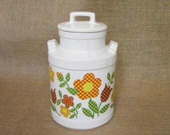 SALE! ~ McCoy Gingham Flowers Cookie Jar