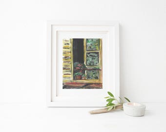 Pierre Bonnard - 'Woman in the window' - Artist impression - digital print - A3,11x14,A4,8x10.