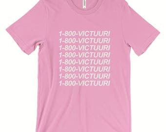 Yuri on Ice 1 800 Victuuri T-Shirt White Black or Pink Yuri Katsuki Victor Nikiforov - Unisex Tumblr Aesthetic Clothing