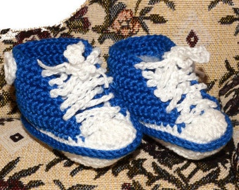 Baby crocheted sneakers, baby shoes, colours, pink, green, blue, purple, red, light blue, light pink, black, orange