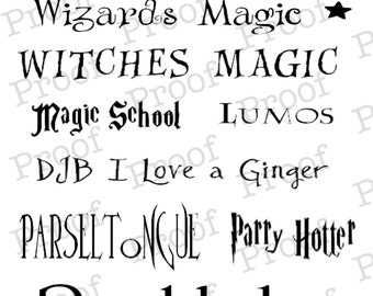Harry Potter Font Collection! Great for scrapbooking!