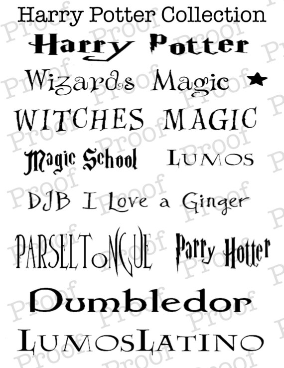 Harry Potter Font For Mac Os X