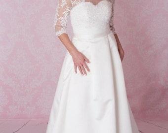 Vintage plus size wedding dress FREE bolero
