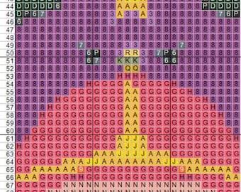Adventure Time Cross Stitch Bookmark Pattern