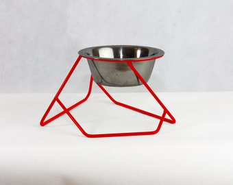 Modern Pet Feeder - Elevated Dog Bowl, Modern Cat Bowl, Wire Feeding Stand, Rised Pet Feeder, Modern Disign