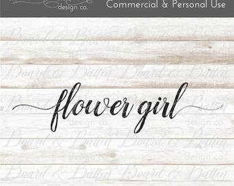 Flower Girl Svg Files - Bridal Party Cut File - Wedding Dxf Files - Flower Girl Cut File - Flower Girl DXF File - Wedding Flower Girl Svg