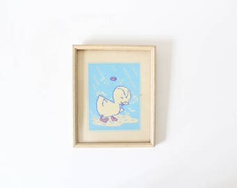 Glow in the Dark Print | Picture of Duck | Nursery Wall Art | Nursery Decor | Cute | Magic Picture | Baby Shower Gift