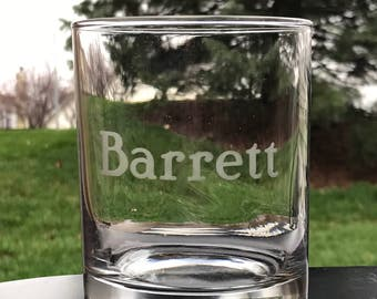 Etched Whiskey Glass - Rocks Glass