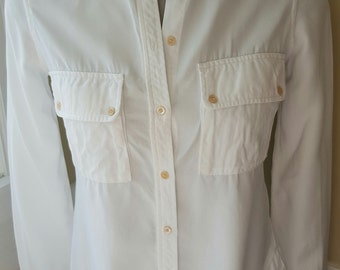 SUMMER SALE: WILFRED White Button Down Blouse