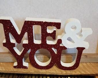 Love words ornament girlfriend/wife/boyfriend/partner