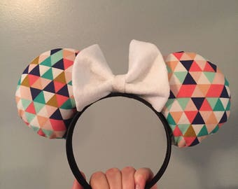 Pastel Triangle Mouse Ears