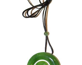Canadian Nephrite Jade Maori Pendant Necklace