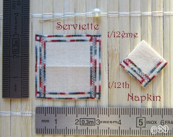 Towel embroidered Miniature 1/12th